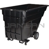 "Rubbermaid 1025-42 Forkliftable Tilt Truck, Standard Duty (Rotational Molded) - 80.5"" L x 43"" W x 49.5"" H - 1 1/2 cu yd - 1200 lb. capacity"
