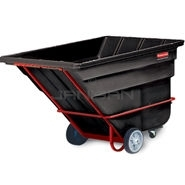 "Rubbermaid 1036 Tilt Truck, Heavy Duty (Rotational Molded) - 81.25"" L x 46.75\"" W x 50\"" H - 2 cu yd - 2300 lb. capacity"