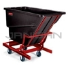 "Rubbermaid 1054-43 Self-Dumping Hopper with four 6"" dia. Polyolefin Casters - 55"" L x 26.25"" W x 47.63"" H - 1/2 cu yd - 750 lb. capacity"