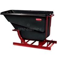 "Rubbermaid 1054 Self-Dumping Hopper - 55"" L x 26.25\"" W x 40 \"" H - 1/2 cu yd - 750 lb. capacity"