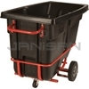 "Rubbermaid 1305-42 Forkliftable Tilt Truck, Standard Duty (Rotational Molded) - 60.5"" L x 28"" W x 38.63"" H - 1/2 cu yd - 850 lb. capacity"