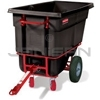 "Rubbermaid 1306-41 Towable Trainable Tilt Truck, Heavy-Duty (Rotational Molded) - 60.5"" L x 28"" W x 38.63"" H - 1/2 cu yd - 1400 lb capacity"