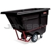 "Rubbermaid 1306 Tilt Truck, Heavy Duty (Rotational Molded) - 60.5"" L x 28"" W x 38.63"" H - 1/2 cu yd - 1400 lb. capacity"