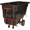"Rubbermaid 1315-42 Forkliftable Tilt Truck, Standard Duty (Rotational Molded) - 72.25"" L x 33.5"" W x 43.75"" H - 1 cu yd - 1250 lb. capacity"
