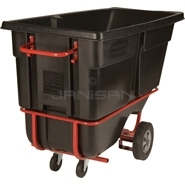 "Rubbermaid 1315-42 Forkliftable Tilt Truck, Standard Duty (Rotational Molded) - 72.25"" L x 33.5\"" W x 43.75\"" H - 1 cu yd - 1250 lb. capacity"