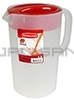 Rubbermaid 3063RD Economy Pitcher - Red Lid - 1 Gallon Capacity