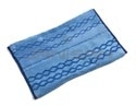 "Rubbermaid 1791791 Double-Sided Wet & Scrub Microfiber Mop Plus Pad - 17.5"" L x 12"" W x .5"" H - Blue in Color"