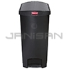Rubbermaid 1883616 Slim Jim Plastic End Step-On Receptacle - 24 Gallon Capacity - Black in Color