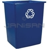 "Rubbermaid 256B-73 Glutton Recycling Container - 56 Gallon Capacity - 25.5"" L x 22.75"" W x 31.13"" H"