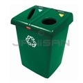 Rubbermaid FG256T06DGRN Two Stream Glutton� Recycling Station - 46 Gallon Capacity - Dark Green in Color