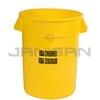 "Rubbermaid 2632-46 BRUTE� Container without Lid with ""USDA Condemned"" Black Imprint, English and Spanish"