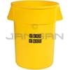 "Rubbermaid 2643-46 BRUTE� Container without Lid with ""USDA Condemned"" Black Imprint, English and Spanish"