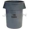 "Rubbermaid 2643-56 BRUTE� Container without Lid with ""Inedible"" Black Imprint, English and Spanish"