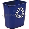 "Rubbermaid 2955-73 Deskside Recycling Container, Small with Universal Recycle Symbol - 13 5/8 Quart Capacity - 11.38"" L x 8.25"" W x 12.13"" H"
