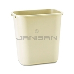 Rubbermaid 29560 Wastebasket, Medium - 28 1/8 U.S. Quart Capacity - Beige in Color