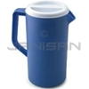Rubbermaid 3063RD Economy Pitcher -Periwinkle Lid - 1 Gallon Capacity