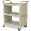 "Rubbermaid 3355-88 Utility Cart with Enclosed End Panels - 31"" L x 18"" W x 37.5"" H - 300 lb capacity"