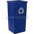 Rubbermaid 3569-06 Untouchable� Square Recycling Container - 23 U.S. Gallon Capacity - Blue in Color