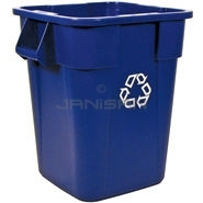 "Rubbermaid 3536-73 BRUTE� Square Recycling Container without Lid - 40 Gallon Capacity - 23.5"" Sq. x 28.75\"" H"