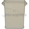 Rubbermaid 3541 Slim Jim� Waste Container with Handles - 15 7/8 U.S. Gallon Capacity
