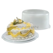 "Rubbermaid 3900RD Cake Keeper - 13.2"" L x 12.7\"" W x 6.9\"" H - White in Color"