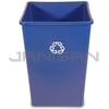 "Rubbermaid 3958-73 Untouchable� Square Recycling Container - 35 U.S. Gallon Capacity - 19.5"" Sq. x 27.63"" H"