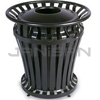 "Rubbermaid 4021 WeatherGard® Series Container with 32 U.S. gal BRUTE® Container Rigid Liner - 30.13"" Dia. x 32"" H - Black"