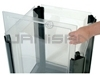 "Rubbermaid 4005 Panels with Backing for Advertising for 3975, 3975-01 Containers - 34.3"" L x 20.7"" W x .38"" H - Clear"