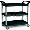 "Rubbermaid 4091 Utility Cart, Open Sided - 40.63"" L x 20"" W x 37.81"" H - 300 lb capacity"