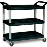 "Rubbermaid 4091 Utility Cart, Open Sided - 40.63"" L x 20\"" W x 37.81\"" H - 300 lb capacity"