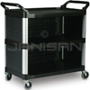 "Rubbermaid 4093 Utility Cart with Enclosed End Panels on 3 Sides - 40.63"" L x 20"" W x 37.81"" H - 300 lb capacity"