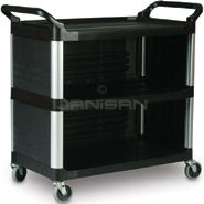 "Rubbermaid 4093 Utility Cart with Enclosed End Panels on 3 Sides - 40.63"" L x 20\"" W x 37.81\"" H - 300 lb capacity"