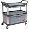 "Rubbermaid 4094 Instrument Cart with Lockable Doors and Sliding Drawers - 40.63"" L x 20"" W x 37.81"" H - 300 lb capacity"