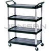 "Rubbermaid 4096 4 Shelf Cart, Open Sided - 40.63"" L x 20"" W x 51"" H - 300 lb capacity"
