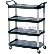 "Rubbermaid 4096 4 Shelf Cart, Open Sided - 40.63"" L x 20\"" W x 51\"" H - 300 lb capacity"