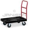 "Rubbermaid 4406 Utility Platform Truck, 6"" dia x 2"" wide Rubber Casters, Crossbar Handle - 36"" L x 24"" W - 1000 lb capacity"