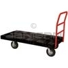 "Rubbermaid 4466-10 Standard Platform Truck, 8"" dia Pneumatic Rubber Wheels, Crossbar Handle - 60"" L x 30"" W - 1000 lb. capacity"