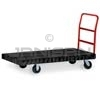 "Rubbermaid 4466 Standard Platform Truck, 6"" dia x 2"" wide Rubber Casters, Crossbar Handle - 60"" L x 30"" W - 1000 lb. capacity"