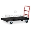 "Rubbermaid 4436 Standard Platform Truck, 6"" dia x 2"" wide Rubber Casters, Crossbar Handle  - 48"" L x 24"" W - 1000 lb capacity"