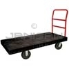 "Rubbermaid 4471 Heavy-Duty Platform Truck, 8"" dia x 2"" wide Polyolefin Casters, Crossbar Handle - 60"" L x 30"" W - 2000 lb. capacity"