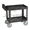 "Rubbermaid 4520-10 2 Shelf Cart with Pneumatic Casters - 45.25"" L x 25.88"" W x 33.25"" H - 500 lb capacity"