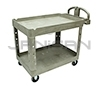 "Rubbermaid 4520-88 2 Shelf Utility Cart - 45.25"" L x 25.88"" W x 33.25"" H - 500 lb capacity - Beige in Color"