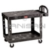 "Rubbermaid 4525 Flat Shelf Utility Cart - 43.88"" L x 25.88"" W x 33.31"" H - 500 lb capacity"