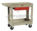 "Rubbermaid 4531 Utility Drawer Cart - 47.88"" L x 19.19"" W x 33.31"" H - 500 lb capacity - Beige in Color"