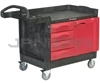 "Rubbermaid 4533-88 TradeMaster® Cart with 4-Drawer and Cabinet, Small - 49"" L x 26.25"" W x 38"" H - 750 lb capacity"