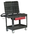 "Rubbermaid 4535-88 TradeMaster® Professional Contractor's Cart - 52.5"" L x 38.63"" W x 37.88"" H - 500 lb capacity"