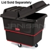 "Rubbermaid 4712 Utility Truck, Heavy-Duty with 4"" dia Casters - 43.25"" L x 28"" W x 33.88"" H - 12 cu ft (9.6 bushels) - 800 lb. capacity"