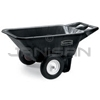 Rubbermaid 5640 7.5 Cu. Ft. Low Wheel Cart (Unassembled) - 300 lb. load capacity