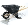 Rubbermaid 5658-61 6.5 Cu. Ft. Contractor Wheelbarrow (Unassembled) - 200 lb. Capacity