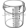 "Rubbermaid 5729-24 Round Storage Container with Bail - 13.13"" Dia. x 14"" H - 22 qt. capacity - Clear"